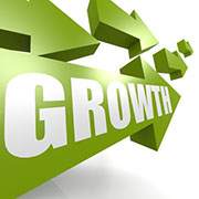 Growth arrow in green
